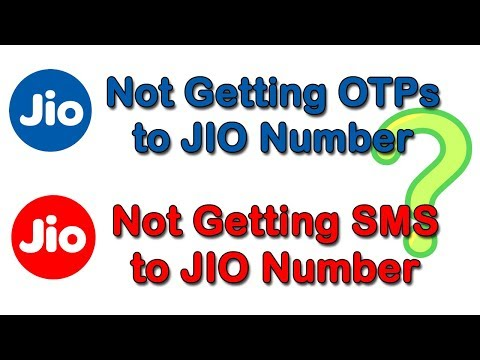 Not Receiving Incoming SMS from JIO /  Not Receiving OTP from JIO   OTP Not Generating JIO 4G