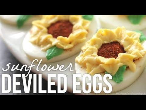 How to Make Sunflower Deviled Eggs!