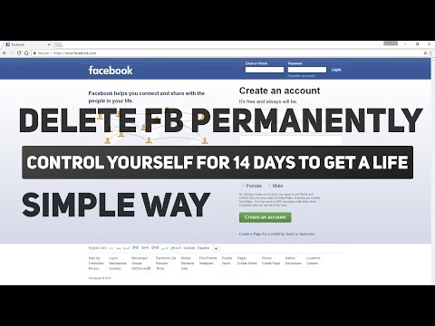 How To Delete Facebook Account Permanently/Forever 2017 - Simple Way