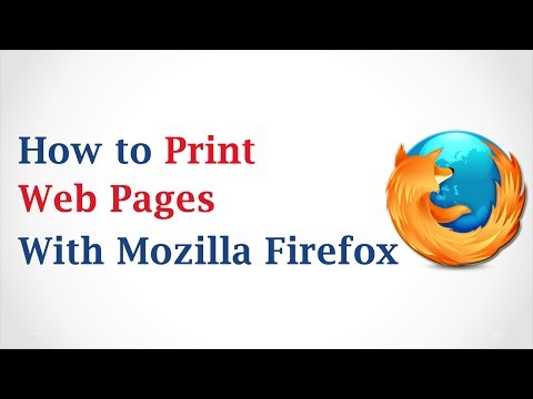 How to Print Web Pages with Mozilla Firefox