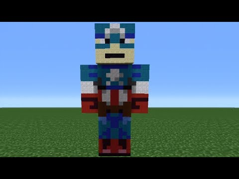 Minecraft 360: How To Make A Captain America Statue (The Avengers)