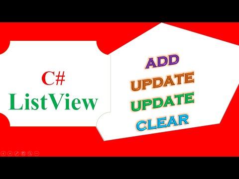 C# ListView -  ADD,UPDATE,DELETE,CLEAR
