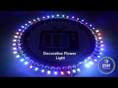 DIY |  Flower RGB LED Decorative Light | Photo Frame