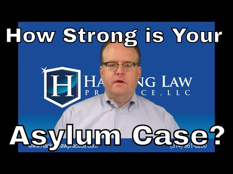 What makes an asylum case weak or strong?
