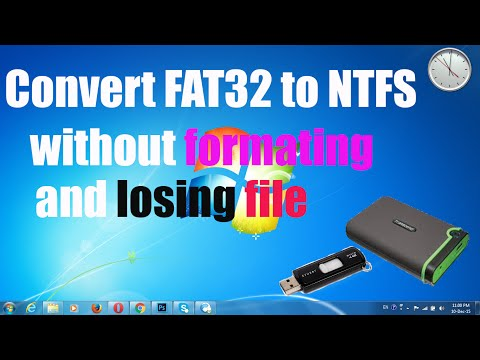 Convert FAT32 to NTFS without format and losing  file