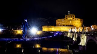 Tightrope walker in first ever attempt to conquer Rome