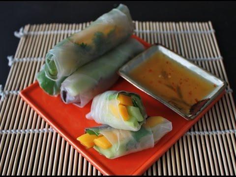 Mango Avocado Spring Rolls with Dipping Sauce