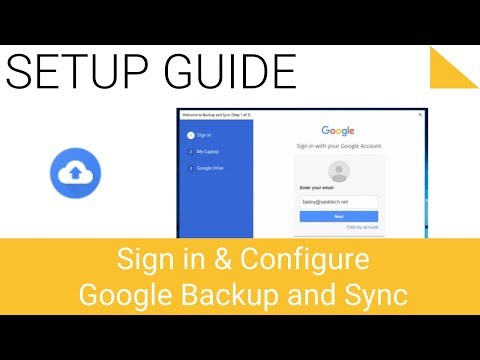 Sign in and Configure Google Drive Backup and Sync Utility