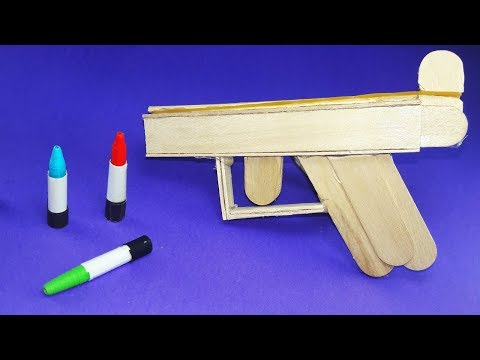 DIY | How To Make a Wooden Gun Using Popsicle Sticks |  Pocket Pistol | Easy Tutorial
