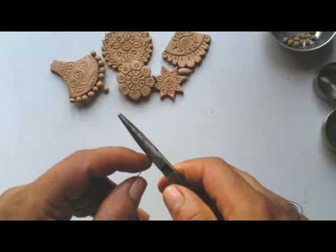 Terracotta or clay jewellery making - how to make drops -step 1