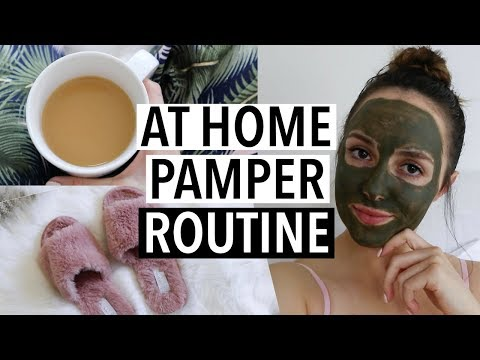 MY EASY (AT HOME) PAMPER ROUTINE + Healthy Snack Idea!