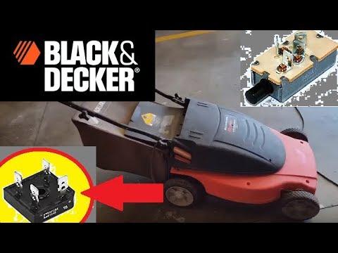 Electric lawnmower repair (Black & Decker ). How to repair the lawnmower if it won't start.