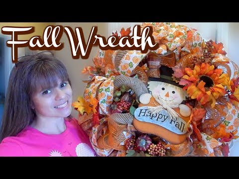 FALL WREATH 2017 | DECO MESH TUTORIAL