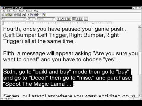 Cheats for The Sims 3 Xbox 360