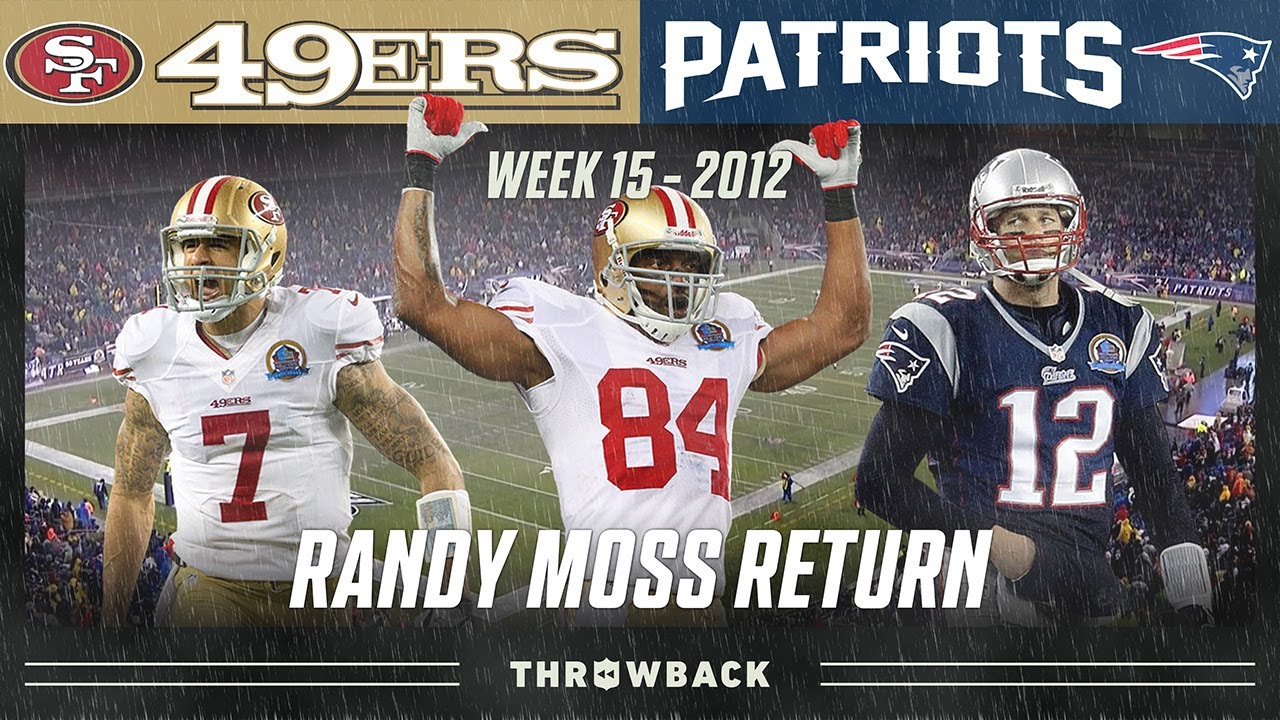Randy Moss Returns to New England! (49ers vs. Patriots 2012, Week 15)