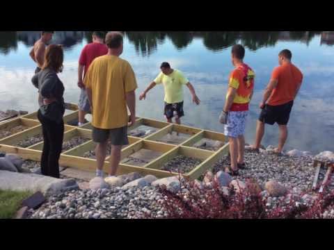 Building a small boat dock
