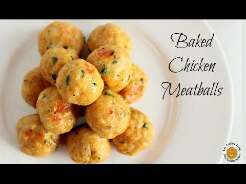 Baked Chicken Meatballs Recipe ❤ Polpette di pollo ricetta light
