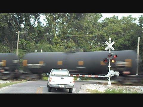CSX Tank Train Hits Rail Joint Fast And Hard
