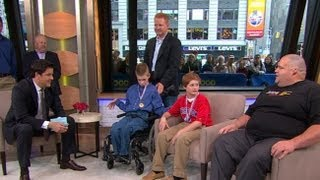 Wrestler With Cerebral Palsy, Opponent Interview: Jared Stevens and Justin Kievet Honored on