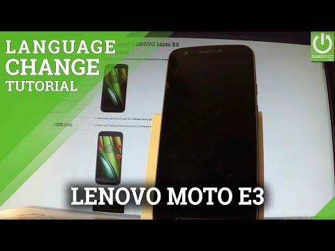 LENOVO Moto E3 Change Language / Set Up Android Langauge