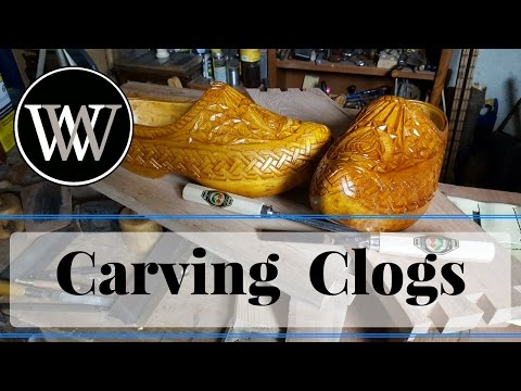 How to Carve Clogs by Hand For Shop Shoes and A Carving Challenge