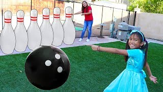 Wendy Pretend Play w/ Giant Bowling Ball INFLATABLE Kids Outdoor Toys Play Set