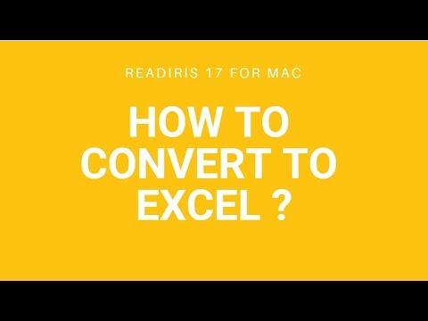 Readiris 17 Mac: Convert to Excel