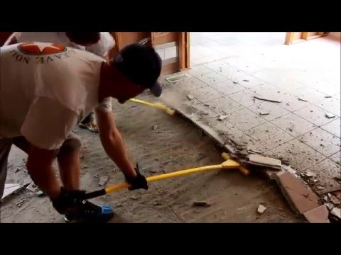 Tile and cement board removal