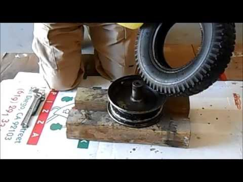 Wheelbarrow Tire Change