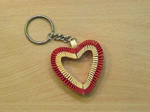 How to make a paper Heart Keychain ( valentine's day special gifts ) - Easy tutorials