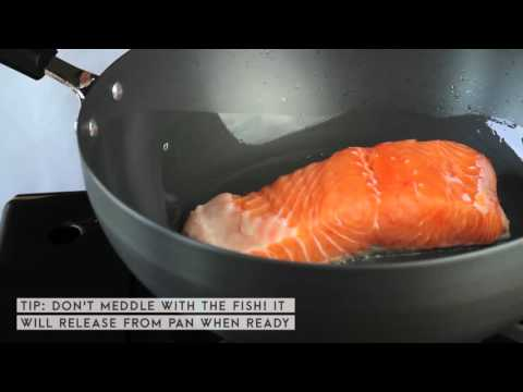 SUPER B Hard Anodized Cookware - How to Fry Fish Without Sticking