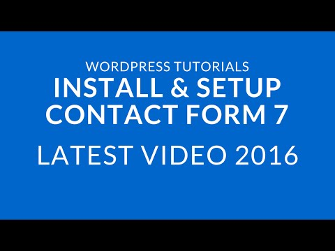 How to Install and Setup Contact Form 7 in WordPress 2016
