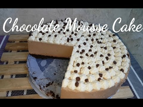 How to make No bake Chocolate Mousse Cake | Eggless Chocolate Mousse | Fudgee Barr Cake