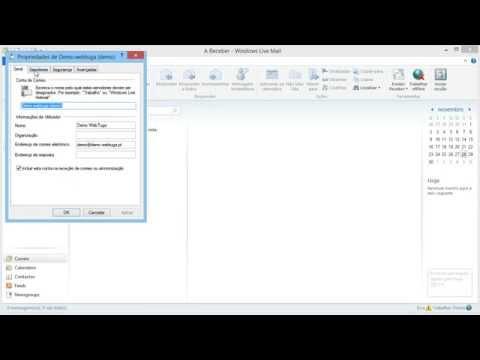 Activar Autenticação SMTP no servidor de envio Windows Live Mail