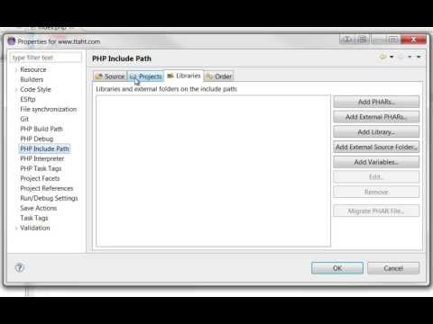 How To Set Up PHP Include Paths Between Project Files - Eclipse IDE
