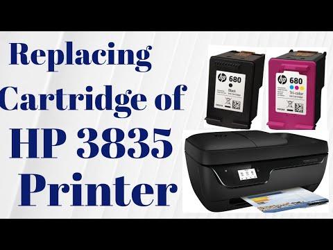 Replacing cartridge on HP 3835 Printer