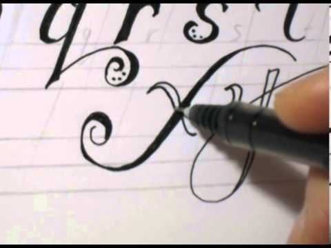 Fancy Cursive Writing - How To Write ABC  in Fancy Letters
