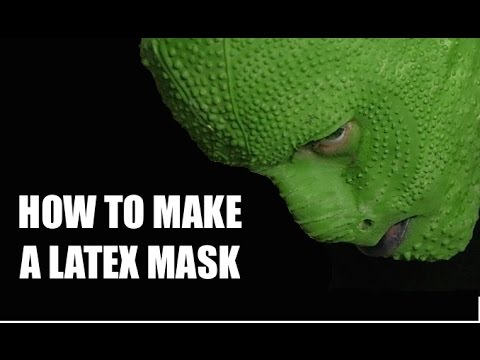 EASY to make a Latex mask - Lizard man edition