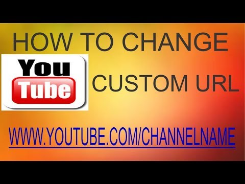 How To Change Your Youtube Custom URL Step By Step Tutorial