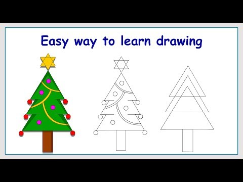Learn How to Draw Christmas Tree in a Simple Way