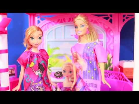 Barbie Pajama Fashion Show Frozen Princess Anna Part 2