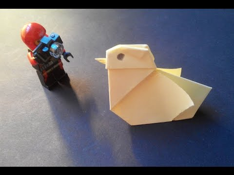 How to make: paper Chick. Птенец из бумаги. Nestling Papier