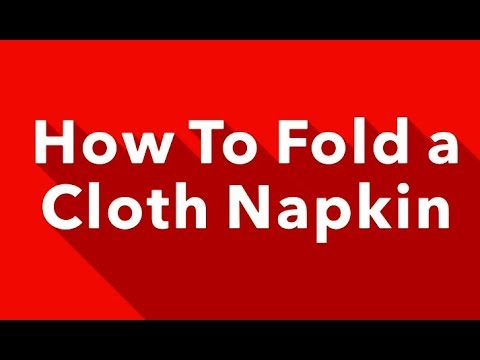 2 Cute Ways to Fold Cloth Napkins For Christmas Dinner