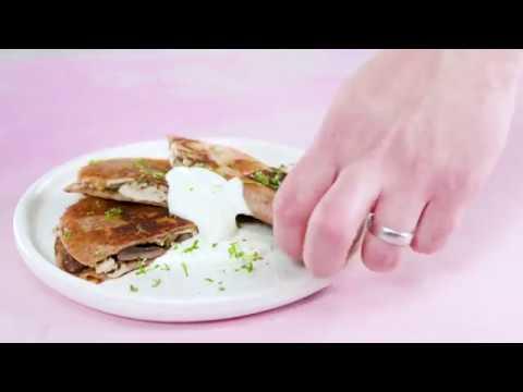 Poblano, Chicken, and Mushroom Quesadillas | Cooking Light