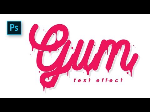 How to Create a Lettering with Melt Text Effect in Photoshop - Photoshop Tutorials