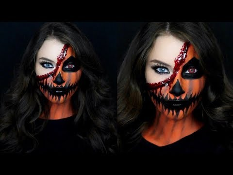 Pumpkin Face Halloween Makeup Tutorial!