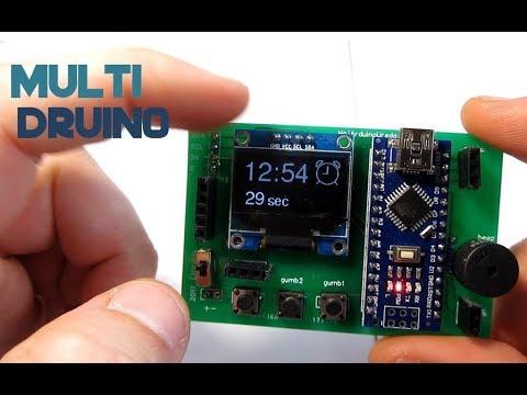 Multidruino - multimeter, game console, calculator. clock and much more