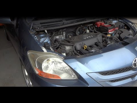 2007 Toyota Yaris Serpentine Belt Replace / トヨタ ベルタ ファンベルト交換