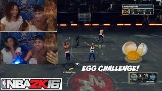 NBA 2K16| Girlfriend EGG CHALLENGE!! DONT MISS!! haha (MUST WATCH) - Prettyboyfredo