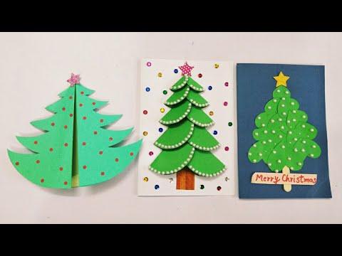 3 DIY Christmas Cards for Kids/Handmade Christmas Greeting Cards for Kids